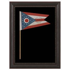 OHIO STATE FLAG WITH CIVIL WAR VETERANS  OVERPRINT FROM THE GRAND ARMY OF  THE REPUBLIC POST IN COLUMBUS 905b664b99a7