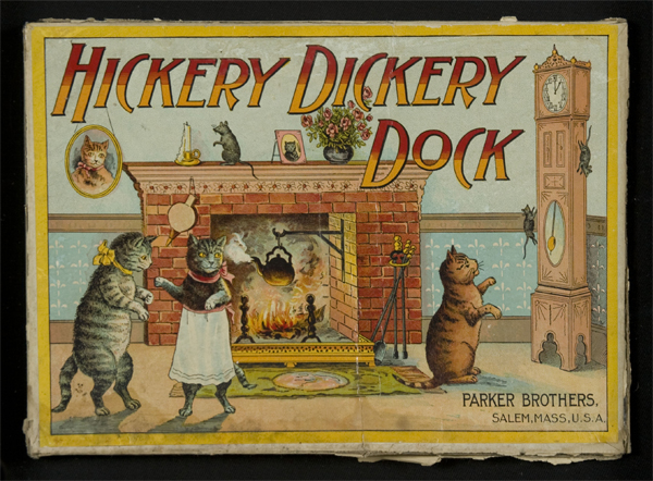 HICKORY DICKERY DOCK: EARLY PARKER BROTHERS BOARD GAME WITH GREAT CAT U0026  MOUSE AND TALL