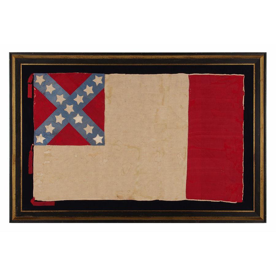 Jeff Bridgman Antique Flags And Painted Furniture Very Rare Civil