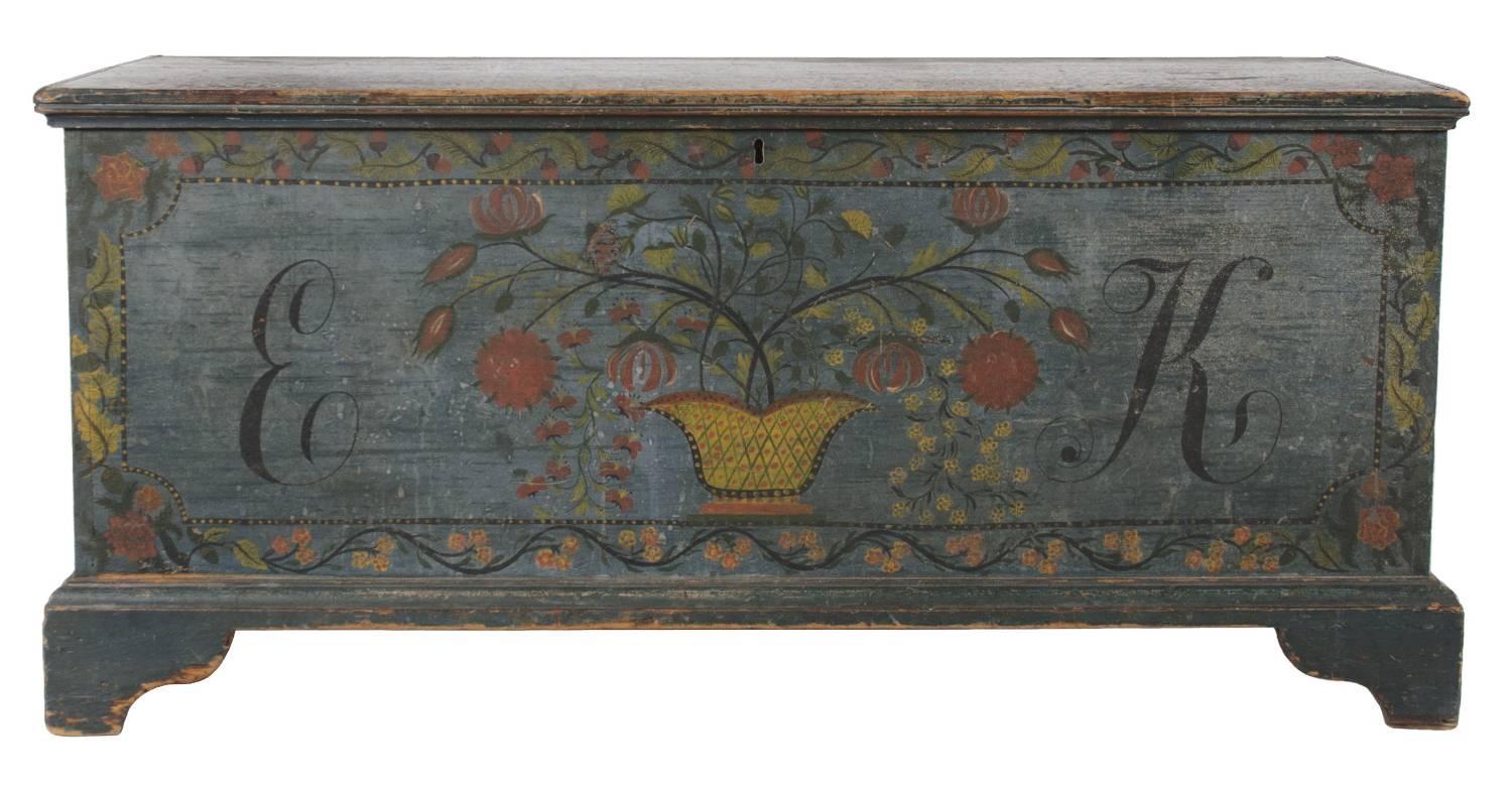 SCHOHARIE COUNTY, NEW YORK STATE BLANKET CHEST, 1820 30