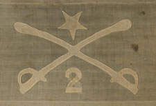 THE PERSONAL HEADQUARTERS FLAG OF PHILIP HENRY SHERIDAN FROM THE SPRING - SUMMER OF 1862, WHEN HE LED THE 2ND MICHIGAN CAVALRY WITH GREAT EFFECT AND ROSE FROM CAPTAIN TO MAJOR GENERAL