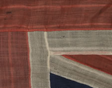 ONE OF THE THREE EARLIEST BRITISH UNION JACKS THAT I HAVE ENCOUNTERED IN PRIVATE HANDS, 1801-1835