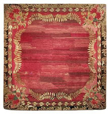 UNUSUAL, NEW ENGLAND, ROOM-SIZED HOOKED RUG