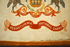 IMPORTANT FLAG OF THE PENNSYLVANIA NATIONAL GUARD HEADQUARTERS