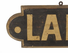 "PAINTED & GILDED SIGN, CA 1880-1920: ""LADIES ENTRANCE"""