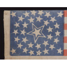 34 STARS IN A MEDALLION CONFIGURATION WITH A LARGE, HALOED CENTER STAR, CIVIL WAR PERIOD, 1861-63, KANSAS STATEHOOD