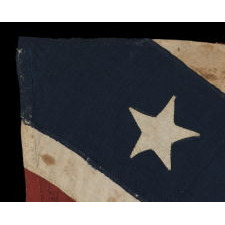 CONFEDERATE ARMY OF TENNESSEE, SOUTHERN CROSS BATTLE FLAG, AN ENTIRELY HAND-SEWN, WAR-PERIOD EXAMPLE, ATTRIBUTABLE TO AN IDENTIFIED GROUP ISSUED UNDER THE COMMAND OF GENERAL JOE JOHNSTON IN THE SPRING OF 1864