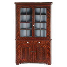 PAINT-DECORATED CORNER CUPBOARD, ATTRIBUTED TO JOHN RUPP, YORK COUNTY, PENNSYLVANIA, CA 1840-50