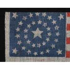 37 STARS, MEDALLION CONFIGURATION, 1867-1876, NEBRASKA STATEHOOD