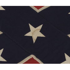 "CONFEDERATE SOUTHERN CROSS NAVY JACK / ""BATTLE FLAG"", MADE BY COPELAND, WASHINGTON, D.C., CIRCA 1895-1920's"