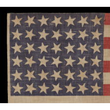 42 STARS, 1889-1890, AN UNOFFICIAL STAR COUNT, WASHINGTON STATEHOOD, SCATTERED STAR POSITIONING