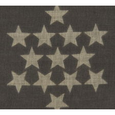 48 STARS ON AN ANTIQUE AMERICAN FLAG DESIGNED AND COMMISSIONED BY WAYNE WHIPPLE, 1910-1912, A RARE AND HIGHLY DESIRED EXAMPLE