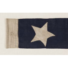 U.S. NAVY COMMISSIONING PENNANT WITH 7 STARS, CLOSING YEARS OF THE CIVIL WAR, 1864-65, POSSIBLY MADE ABOARD SHIP