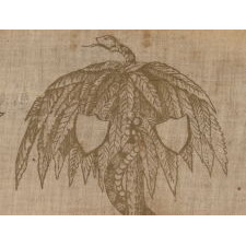 EXCEPTIONALLY RARE, CONFEDERATE, SOUTH CAROLINA PARADE FLAG TEXTILE, TAKEN BY A UNION OFFICER WHO ACCOMPANIED SHERMAN ON HIS MARCH TO THE SEA, SHORTLY FOLLOWING THAT CAMPAIGN IN 1865