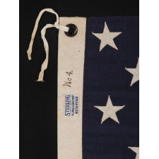 15 STARS AND 15 STRIPES, A COPY OF THE STAR SPANGLED BANNER, THE FAMOUS FLAG ON WHICH FRANCIS SCOTT KEY GAZED IN BALTIMORE HARBOR WHILE WRITING THE WORDS TO THE SONG OF THE SAME NAME; THIS EXAMPLE MADE BY ANNIN & COMPANY IN NEW YORK CITY, CA 1912-14: