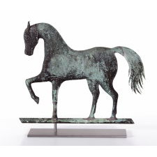 PRANCING HORSE WEATHERVANE, ATTRIBUTED TO JEWEL & CO. WALTHAM, MASSACHUSETTS, CA 1860