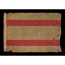 NATIONAL FLAG OF SPAIN, MADE BY HORSTMANN BROTHERS & COMPANY OF PHILADELPHIA FOR THE 1876 CENTENNIAL INTERNATIONAL EXHIBITION, THE ONLY KNOWN EXAMPLE IN THIS STYLE