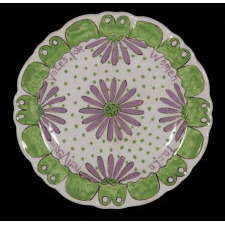 "ENGLISH PORCELAIN SUFFRAGETTE PLATE WITH ""DEEDS, NOT WORDS"" AND ""VOTES FOR WOMEN"" SLOGANS, ONE-OF-A-KIND AMONG KNOWN EXAMPLES, CA 1905-1918"