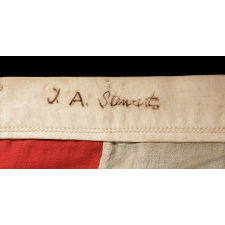"36 SINGLE-APPLIQUÉD STARS ON AN ANTIQUE AMERICAN FLAG OF THE CIVIL WAR ERA, SIGNED ""J.A. STEWART,"" 1864-1867, NEVADA STATEHOOD"