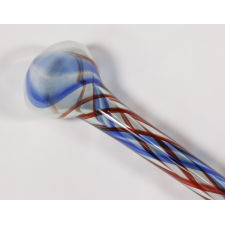 EXTRAORDINARY 19TH CENTURY, HAND-BLOWN, GLASS, PATRIOTIC PARADE CANE OF MASSIVE SCALE, 100 INCHES IN LENGTH, ca 1876-1910