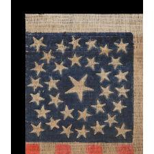 33 STARS, MEDALLION CONFIGURATION, PRE-CIVIL WAR THROUGH WAR PERIOD, 1859-1861