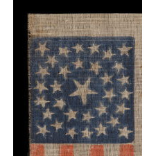 33 STARS, MEDALLION CONFIGURATION, PRE-CIVIL WAR THROUGH WAR PERIOD, 1859-1861