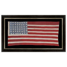 48 STARS ON AN AMERICAN FLAG MADE BY FRENCH RESISTANCE DURING WWII, PRESENTED TO THE 3RD SQUAD OF THE 8TH INFANTRY REGIMENT (MOTORIZED, 4TH INFANTRY DIVISION) FOLLOWING THEIR PARTICIPATION IN THE BATTLE OF NORMANDY, IN GRATITUDE OF THE NATION'S FORTHCOMING LIBERATION IN 1944, A WONDERFUL EXAMPLE