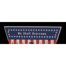 "RARE & EXTRAORDINARY STARS & STRIPES PENNANT FROM THE MARCH ON WASHINGTON, AUGUST 28, 1963, WHEN MARTIN LUTHER KING DELIVERED HIS HISTORIC ""I HAVE A DREAM"" SPEECH"