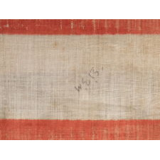 38 STARS IN A MEDALLION CONFIGURATION, WITH 2 OUTLIERS, ON A LARGE SCALE ANTIQUE AMERICAN PARADE FLAG, 1876-1889, COLORADO STATEHOOD
