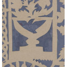 "EXCEPTIONAL PATRIOTIC SCHERENSCHNITTE (PAPER CUTTING), IN THE STYLE OFTEN ATTRIBUTED TO ISAAC STIEHLY, ENTITLED ""LIBERTY,"" WITH IMAGERY THAT INCLUDES AN AMERICAN EAGLE WITH A 14 STAR, 14 STRIPE FLAG IN ITS BEAK, A RATTLESNAKE, LOVE BIRDS, AND EAGLES ON URNS, CA 1830-1850"
