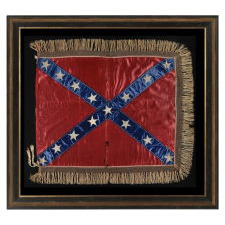 THE 15-STAR CONFEDERATE BATTLE FLAG OF GENERAL LLOYD TILGHMAN OF MARYLAND & KENTUCKY [KILLED AT VICKSBURG], ONE OF ONLY FOUR SUCH FLAGS KNOWN IN THIS STAR COUNT, AN EXQUISITE EXAMPLE OF BOTH HISTORIC AND GRAPHIC IMPORTANCE