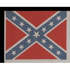 CONFEDERATE PARADE FLAG IN THE THIRD NATIONAL CONFEDERATE FORMAT, REUNION ERA, CA 1920-1940