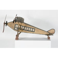 PAINTED WOODEN MODEL OF A FORD TRI-MOTOR AIRPLANE, EXCELLENT FORM AND SURFACE, Ca 1926-1930's