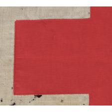 "AMERICAN RED CROSS FLAG, WWII (U.S. INVOLVEMENT 1941-45), SIGNED ""PHILADELPHIA QUARTERMASTER DEPOT, DATED AUGUST 1st, 1942"