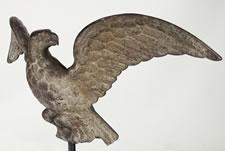 CAST IRON EAGLE, OHIO, SECOND HALF 19TH CENTURY