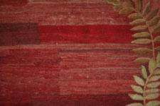 UNUSUAL, NEW ENGLAND, ROOM-SIZED HOOKED RUG