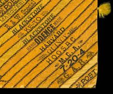 OUTSTANDING CIGAR SILK PIECEWORK TABLE COVER, CIRCA 1880-1910