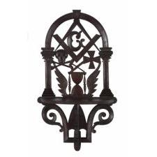 EXTRAORDINARY MASONIC SHELF BY MASTER EAGLE CARVER JOHN HALEY BELLAMY, 1866-1872, BOSTON, MASSACHSETTS