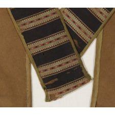 GREAT LAKES REGION, ALGONQUIAN MENOMINEE BEADED NATIVE AMERICAN BANDOLIER BAG, ca 1880