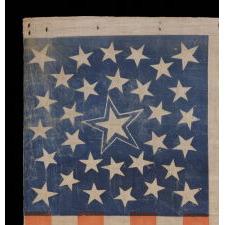 31 STARS, PRE-CIVIL WAR (1850-1858), CALIFORNIA STATEHOOD, MEDALLION CONFIGURATION WITH A LARGE, HALOED CENTER STAR
