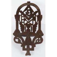 MASONIC SHELF FROM THE SHOP OF MASTER EAGLE CARVER JOHN HALEY BELLAMY, 1866-1890, BOSTON, MASSACHUSETTS