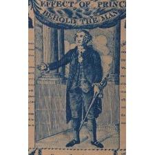 EXTRAORDINARILY EARLY (1806) PRINTED LINEN KERCHIEF GLORIFYING GEORGE WASHINGTON, PRINT WORKS, GERMANTOWN, PENNSYLVANIA